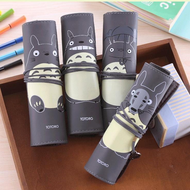 Cute My Neighbor Totoro PU Leather Roll Pencil Case Stationery Storage Organizer Bag Gift Stationery School Office Supply K6768<br><br>Aliexpress