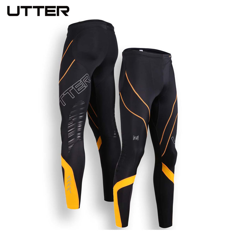 2016 UTTER J6 Men's Long Feature Running Tights Sport Fitness Leggings Compression Sportswear Football Basketball Tights Pantys(China (Mainland))