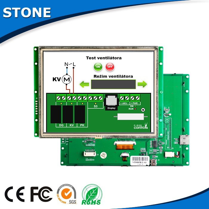 active matrix LCD 5 inch colorful LCD with touchscreen and RS485 port(China (Mainland))
