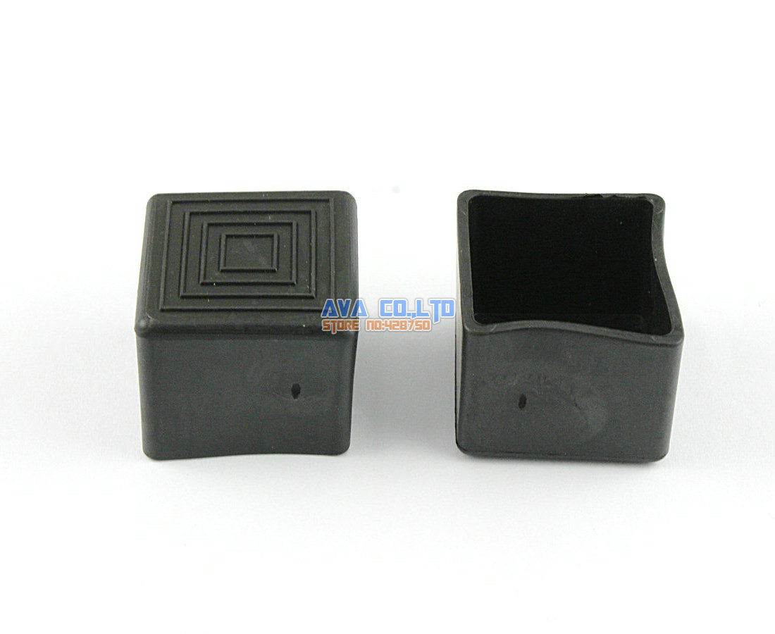 28 Pieces 25 x 25mm Rectangle Rubber Furniture Chair Table Feet Leg Cover Protector<br><br>Aliexpress