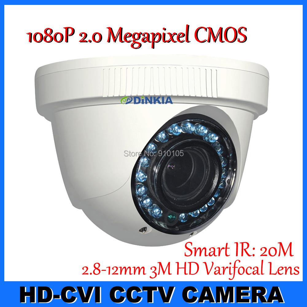 New Style CCTV Camera CVI DAHUA Chipset 2.0Megapixel 1080P Dome Security camera Surveillance Camera 2.8-12mm vari-focal HD lens(Hong Kong)