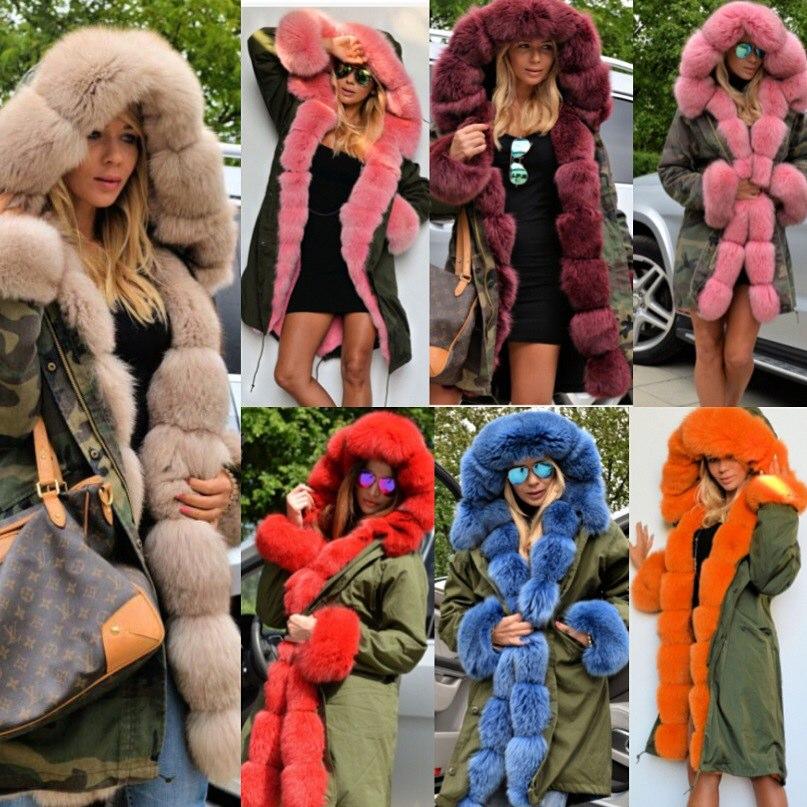 2015 rabbit fur lined parka real fox fur camo coat fur jacket mr and mrs fur coat parka camouflage army green winter coatОдежда и ак�е��уары<br><br><br>Aliexpress