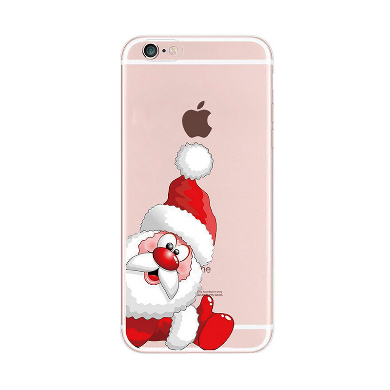 2016 Fashion cartoon christmas hat bow star socks tree gift santa claus elk deer clear tpu case For Samsung Galaxy Cell Phones(China (Mainland))