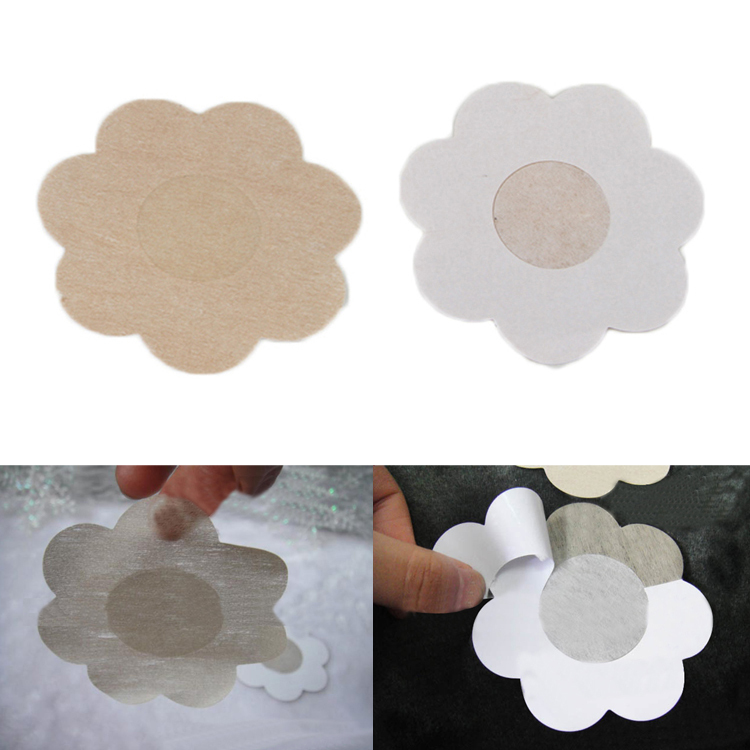 5 Pairs Flower Adhesive Nipple Covers Pads Body Breasts Stickers Disposable Milk Paste Anti Emptied The Chest Paste Bra-0010(China (Mainland))