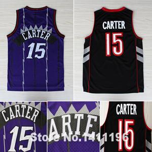 New Toronto #15 Vince Carter Basketball Jersey Purple Stitched Black And Purple Jersey(China (Mainland))