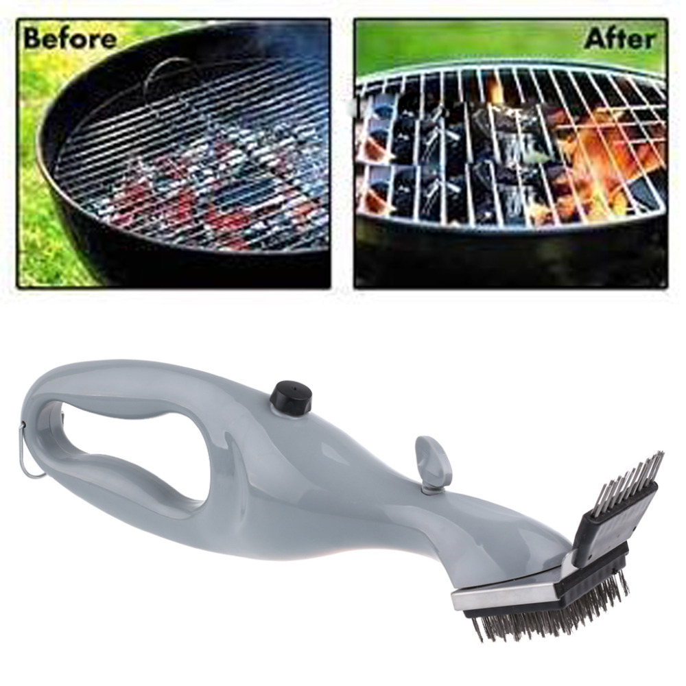 Free shipping Stainless Steel New BBQ Accessories Cleaning Brush Barbecue Tools Grill Cleaner with Power of Steam(China (Mainland))