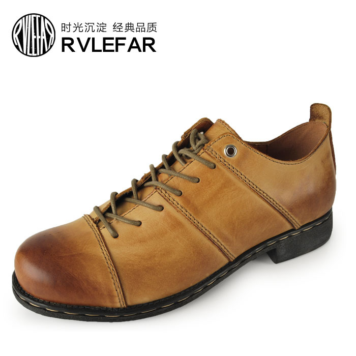 OTTO Top Quality Handmade Oxford Shoes Fashion Genuine Full Grain Retro Cow Leather Casual For Men Business Ankle Boots