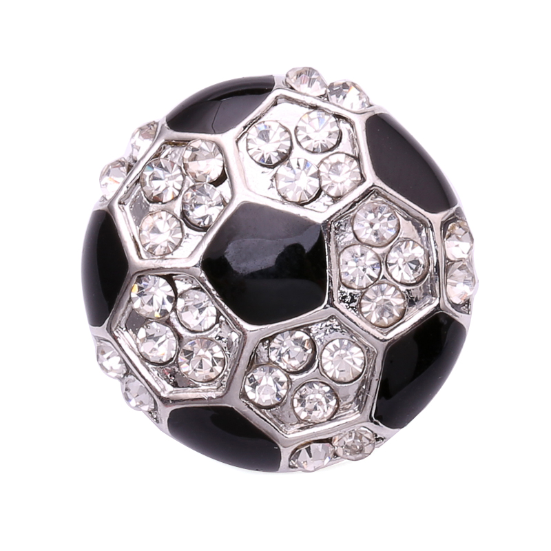 DIY Snap Button Jewelry 18mm Rhinestone Football Snap Buttons fit Ginger Snap Jewelry YD041(China (Mainland))
