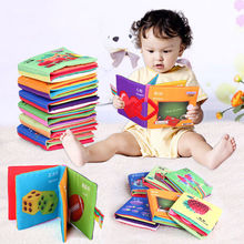 New Intelligence Development Cloth Cognize Book Early Educational Learning Cute Animals Figures Book For Baby Kids Toy(China (Mainland))