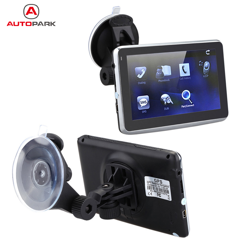 """5"""" HD Touch Screen Portable Car GPS Navigation 128MB RAM 4GB FM Video Play Car Navigator with Back Support +Free Map(China (Mainland))"""