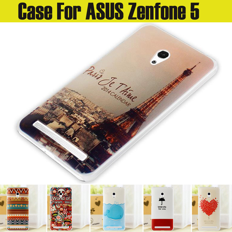 2015 New Top Quality HOT Ultra thin slim Painted Cute Lovely Cartoon UV Print Hard Cover Case For asus zenfone 5 case in stock(China (Mainland))