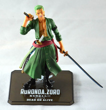 2016 New Anime one piece Roronoa Zoro action figure toys 15cm(6.3″) PVC doll free shipping, no original Box