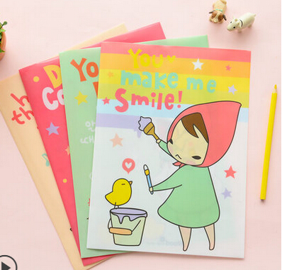 Single File Bag High Quality Plain Kawaii Girl Variety A4 size Folder For Papers Stationery Products Office Supplies 30*22cm(China (Mainland))