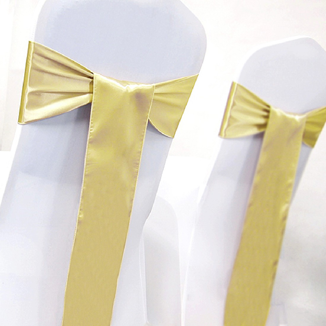 Satin Chair Sash Bow Tie Ribbon Decoration Wedding events supplies party decoration 25 Colors 2016
