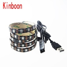 Buy DC5V USB LED strip 5050 RGB Flexible Light 3 keys Mini Remote 50cm 1M 2M TV Background Lighting RGB LED strip IP20 / IP65 for $4.86 in AliExpress store