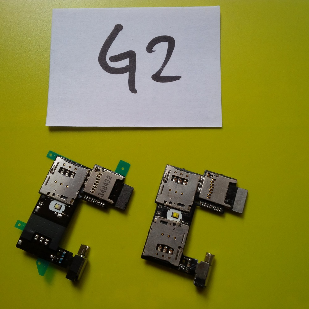 Single/Dual XT1068 Memory SD Card Holders For Moto G2 XT1069 Sim Tray Slot Holder Flex Cable ; With Tracking Number(China (Mainland))