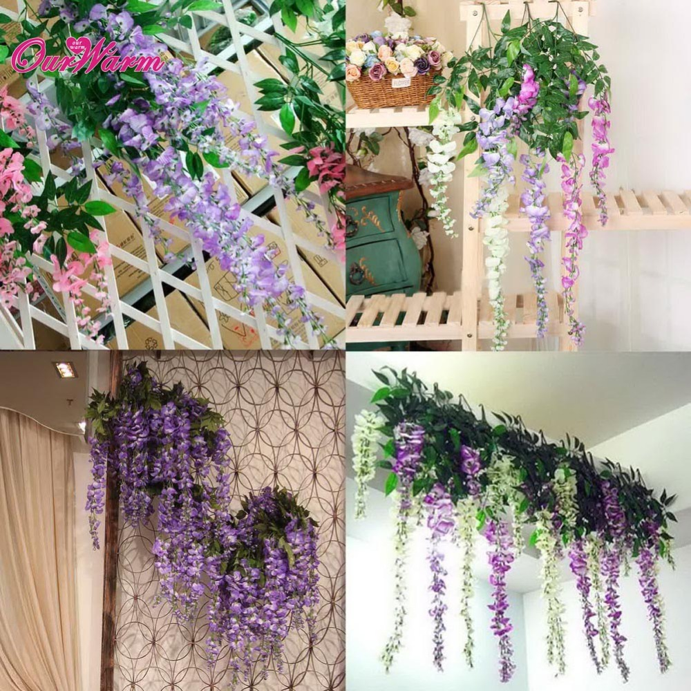 Cheapest Silk Flower Hanging Baskets : Popular artificial hanging plants buy cheap