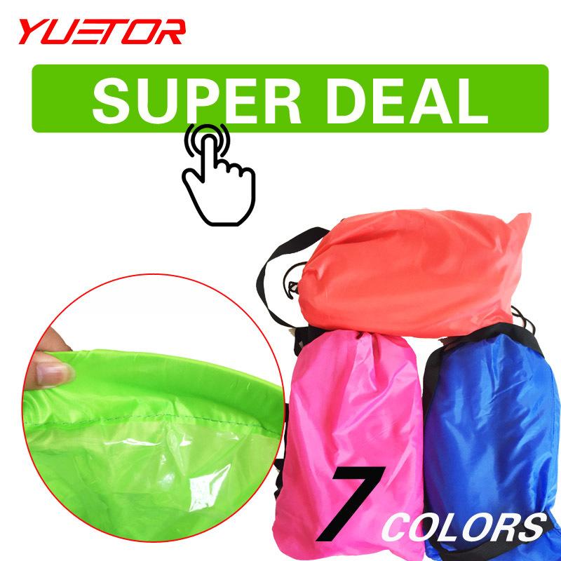 Brand Yuetor lounger air sleep camping couch portabl slaapzak travel outdoor laybag lazy bag sleeping bags inflatable air sofa(China (Mainland))