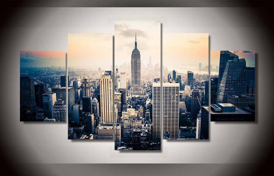 Framed Printed new york city Painting on canvas room decoration print poster picture canvas framed Free shipping/ny-1309(China (Mainland))