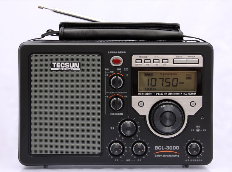 Express free Tecsun BCL-3000 BCL3000 Analog Tuner Multi-Band World Receiver FM/AM/SW Radio LCD Digital Display(China (Mainland))