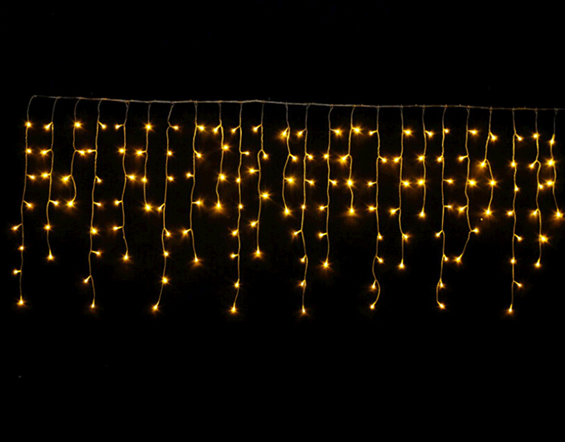 Christmas String Lights 3m Droop 0.4-0.6m Curtain Icicle Lights AC110V/220V Lighting Waterproof Outdoor Decoration Light(China (Mainland))