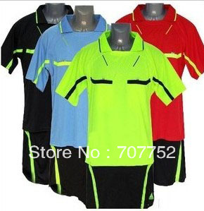 Free Shipping 2010 New Referee service package/Blue/ Red/Yellow/Black/Summer sportswear(China (Mainland))