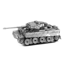 2015 Hot Sale Tiger Tank Miniature 3D Metal Model Puzzles 3D Solid Jigsaw Puzzle Toys for Childern Free Shipping kids diy craft(China (Mainland))