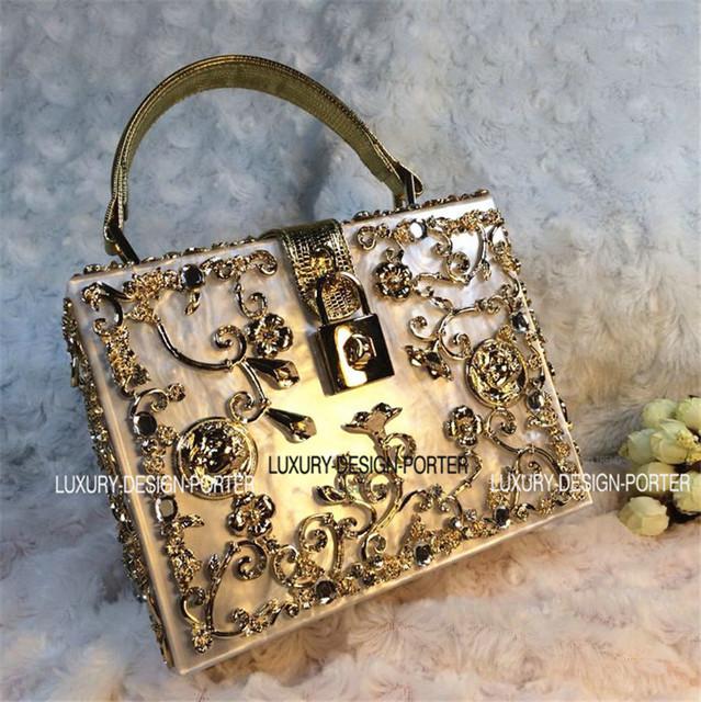 Современный вид барокко королевский сумки впп леди мешок с ручкой
