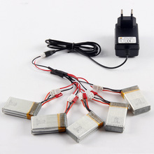 New MJX X600 spare parts 5PCS li-po battery+1pcs li-po battery charger For MJX X600 RC helicopter quadcopter drone