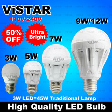 3W 5W 7W 9W 12W LED bulb LED lamp light E27 110V-240V 220V 230V Ultra bright Warm white Cold white free shipping(China (Mainland))