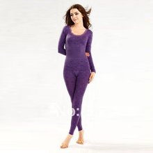 fast ship! bamboo fiber+cotton, 100% high quality, 5 colours, brand assurance! women's Long Johns, women's thermal underwear(China (Mainland))