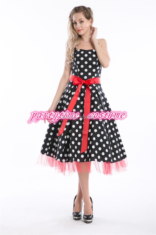 dropshipper plus size dress 50s style pin up dress retro