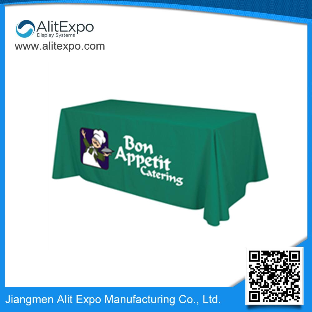 smart design custom logo printed polyester table cloth factory(China (Mainland))