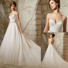 Vestidos De Noiva 2017 Bling Bridal Gowns Vintage Glitter Wedding Dresses Turkey Sexy Tulle Luxury China Wedding Dresses 2017(China (Mainland))