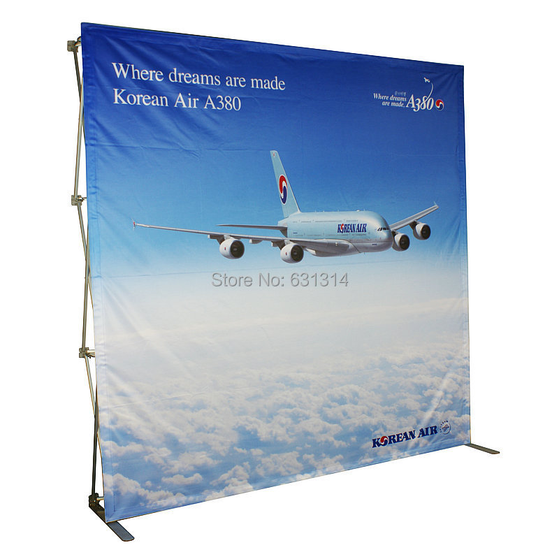 To United State Aluminum pop up stand, pop up banner display,225x225cm(3x3),Fabric Backdrop Banner wall W/Graphic Printing(China (Mainland))