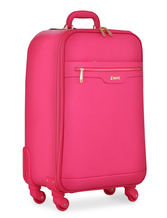 Fashion Special Color Pink  spinner wheels trolley luggage bag fashion travel luggage bag