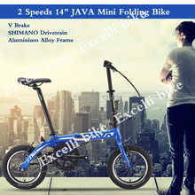 Buy 2 Speeds 14' Bike CST Tire Bicicleta Mini folding Bike Aluminium Alloy Frame Mountain Bicycle City Bicicletas bike Child Bycicle for $340.00 in AliExpress store