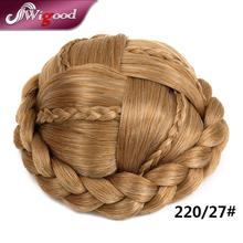 New Arrival High Temperature Synthetic Hair Buns Hair Pieces Updos Bun Hairpiece Braid Hair Bun Braid