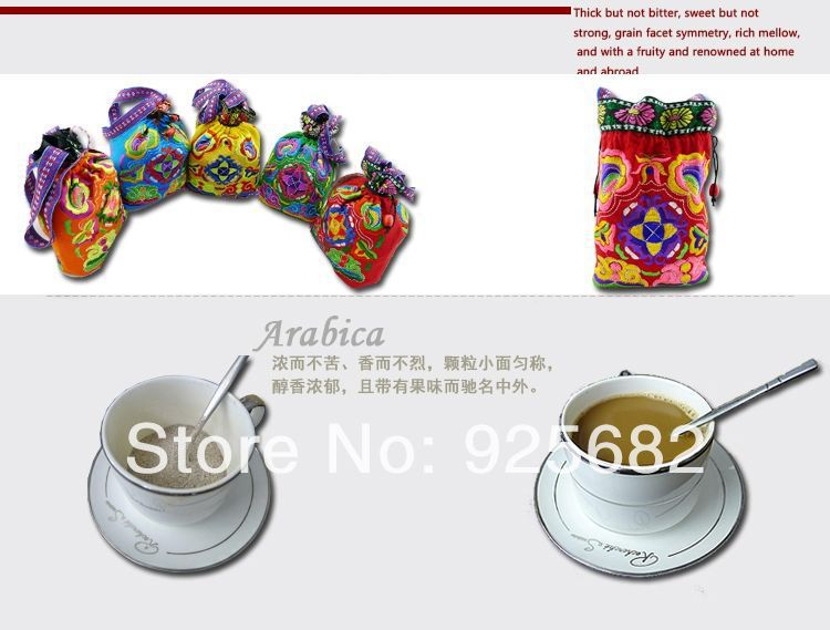 promotion Free shipping China Yunnan Small Coffee Beans Arabica A Green Coffee powder 260g 2013