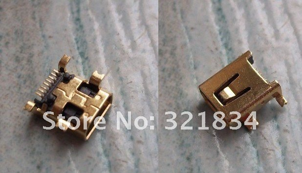 10pcs/lot MINI USB connector 8Pin SMT for repairing mobile mobile charging connector(China (Mainland))