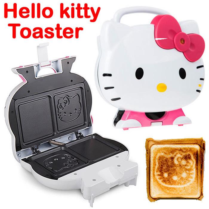 Free Shipping Hello Kitty Sandwich Maker Bread Maker