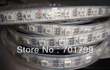 4m DC5V WS2812B led pixel srip,IP68,60pcs WS2812B/M with 60pixels;white PCB, in silicon tube,only 4PIN(China (Mainland))