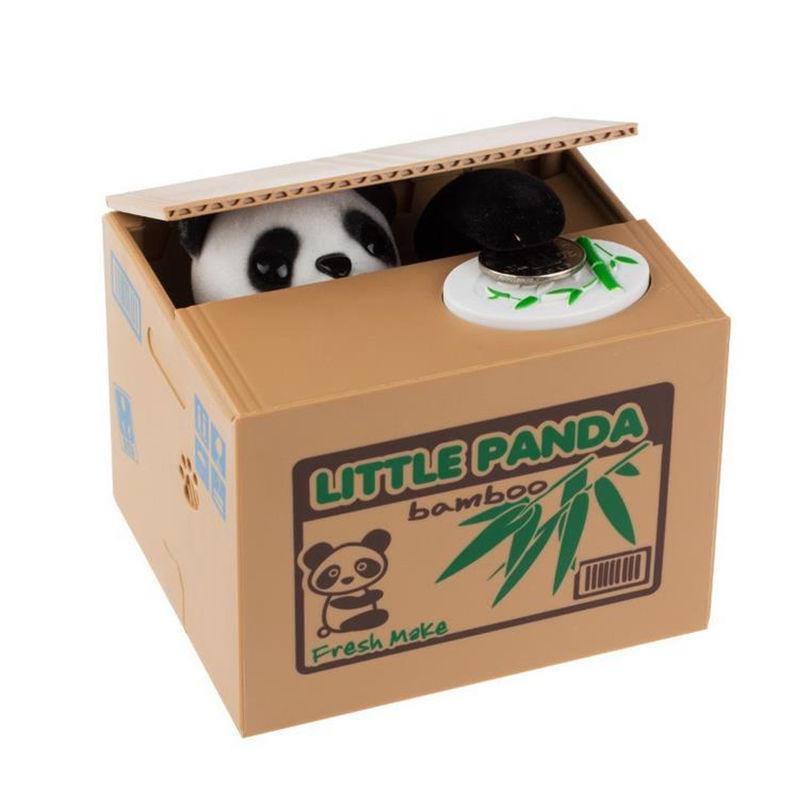 Hucha panda Toy panda money box Mischief Saving Box panda coin bank Automatic piggy bank save money box more fun to play it