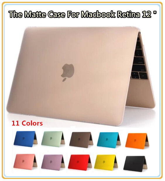 """Newest Matte Hard Cover Shell Case For Macbook Laptop Retina 12 """", New 12 inch, 11 Colors, Wholesales, Free Drop Shipping(China (Mainland))"""