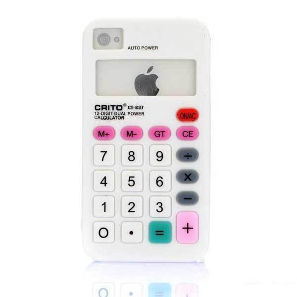 Alicolu Calculator Silicone Soft Skin Case Cover For iPhone 4 4S 4G(China (Mainland))