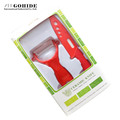 Gohide Top Grade Ceramic Series Products 4 Inch Ceramic Paring Knife With Scabbard And Peeler 2Pcs