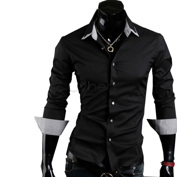 Мужская повседневная рубашка Brand new#3_A 2 38 ###