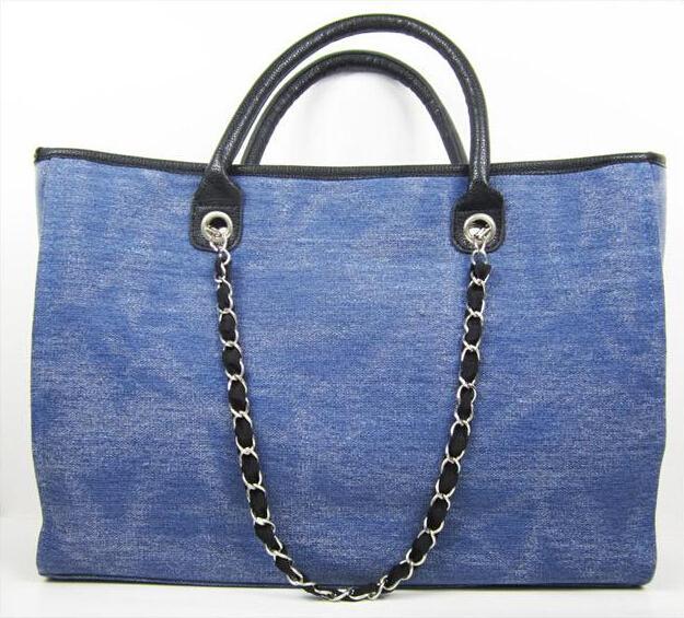 free shipping 2014 new arrive women big size cc canvas bag handbag women chain bag hand bag