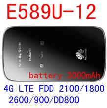 Desbloqueado Huawei E589 E589u-12 LTE 4 g wireless router Hotspot 4 g LTE dongle bolso sem fio wi fi mifi router pk e5372 e5776 b593