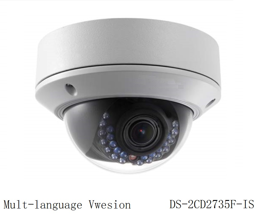 Multi-language Version DS-2CD2735F-IS 3MP CCTV Dome IP Camera 2.7mm-12mm Zoom H.265 Support PoE IR Alarm Audio Security Camera(China (Mainland))